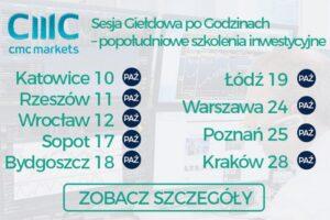 CMC Markets - szkolenia, Marcin Tuszkiewicz