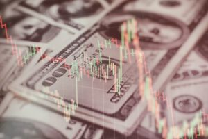 Banconote e grafico in USD