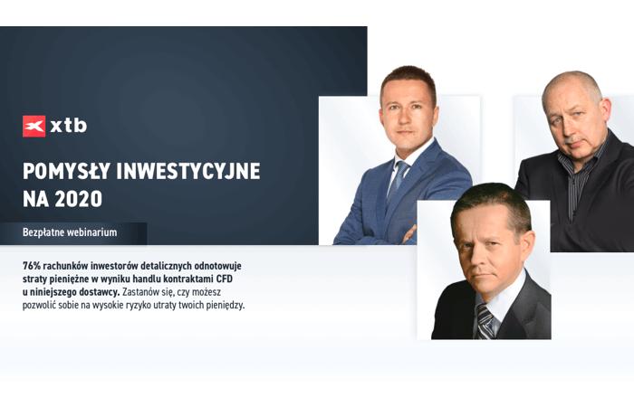 XTB - pomysły inwestycyjne 2020
