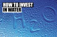 investindo em água