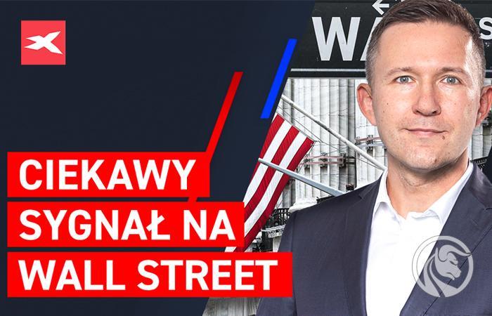 Ciekawy sygnal na Wall street akcje