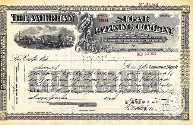 00 American Sugar Refining Company